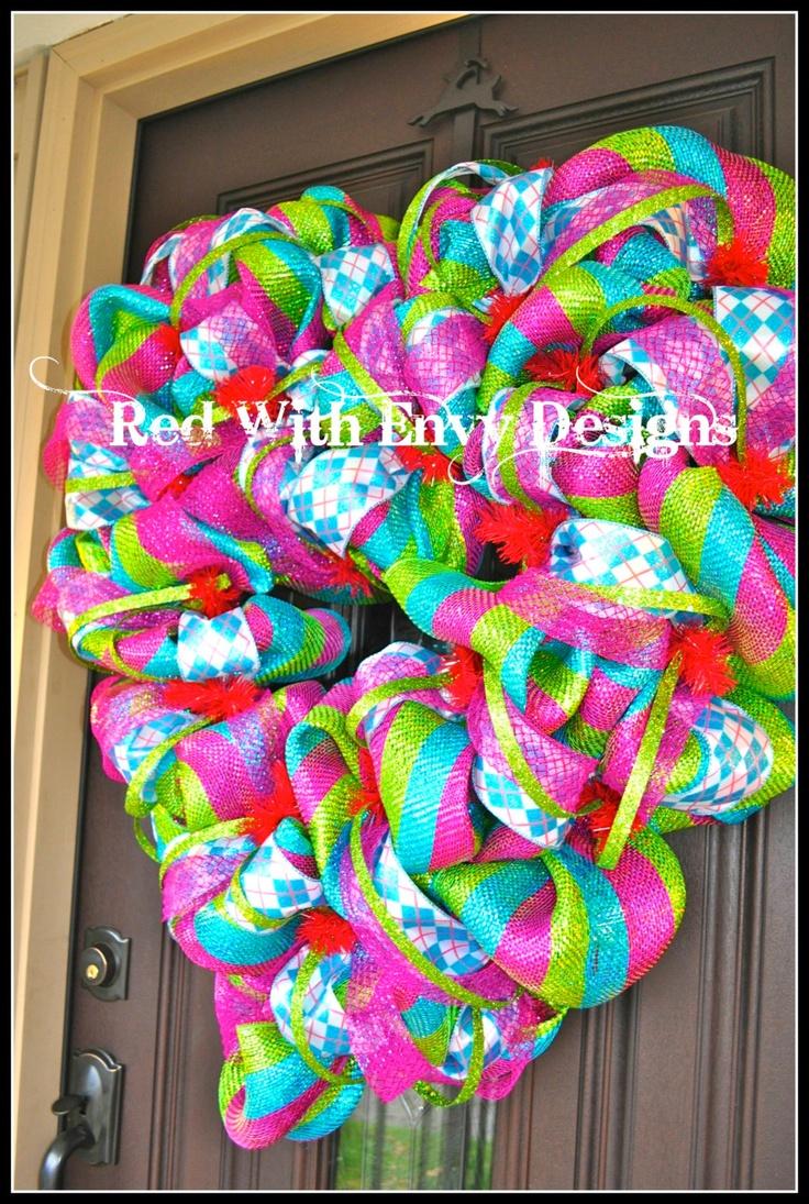 Valentine Deco Mesh Wreath Valentineus Day Wreath Heart Wreath