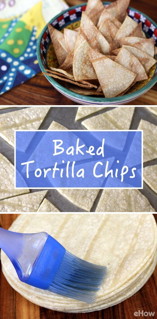 Homemade baked tortilla chips are healthier and tastier than store-bought chips! This recipe shows you how easy it is to DIY: http://www.ehow.com/how_12343433_easily-bake-tortilla-chips.html?utm_source=pinterest.com&utm_medium=referral&utm_content=freestyle&utm_campaign=fanpage