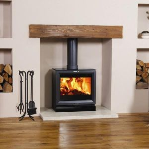 Wood Burning Stove in wall so we can hang tv above  Log Burner  FireplaceFireplace IdeasWood ...