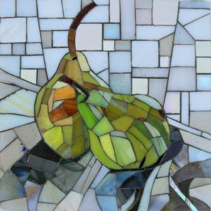 Happy Pear Mosaic #mosaicpear #mosaic #stilllife