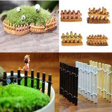 Деревянный забор мини фея сад микро кукольный домик горшок бонсай террариум DIY ремесло новый AL3318(China (Mainland))