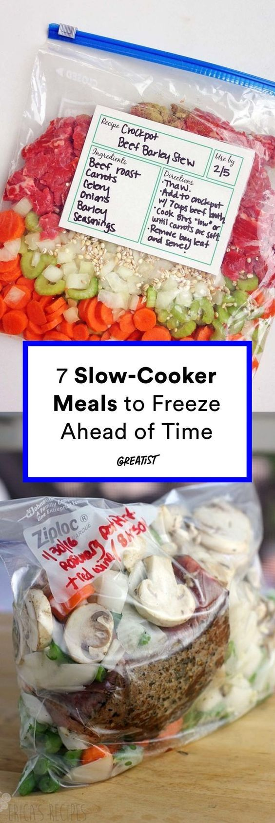 Make-ahead slow cooker meals to freeze. #greatist http://greatist.com/eat/slow-cooker-recipes-you-can-make-ahead-of-time