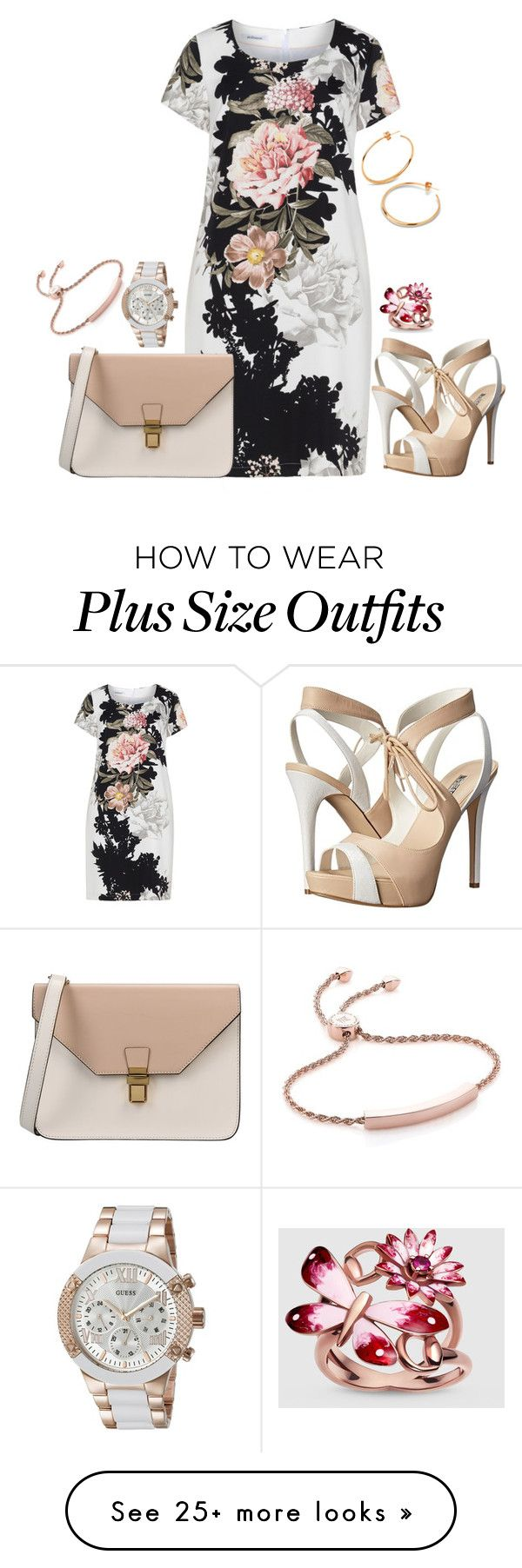 """""""Plus set"""" by kneesaasmom on Polyvore featuring Steilmann, GUESS, 8, Gucci, Monica Vinader and Dinny Hall"""