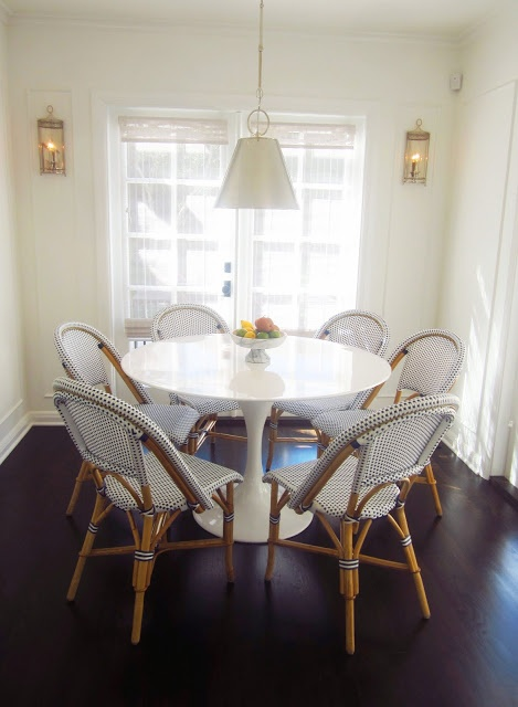 eat in kitchen dining room breakfast nook saarinen tulip table white