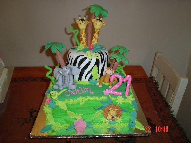 Jungle 21st Cake