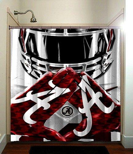 Alabama Crimson Tide football Printed Bathroom Shower Curtain Large