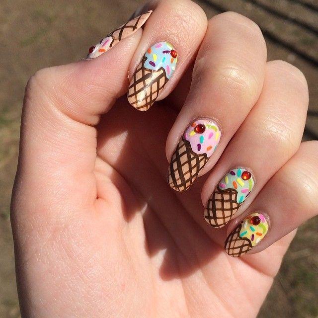 Cream Nail Art: 60 Best Ice Cream Nail Designs Images On Pinterest