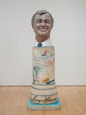 Robert Arneson, Portrait of George (Moscone), 1981, glazed ceramic, 94 in. x 31 1/2 in. x 31 1/2 in.