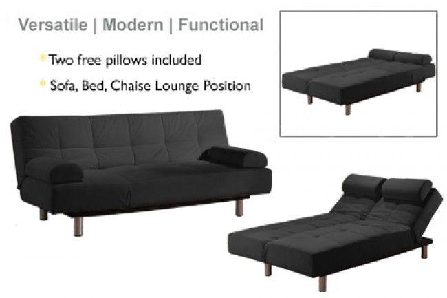 MICROFIBER FOLD DOWN Futon Sofa Bed Couch Sleeper Furniture ...