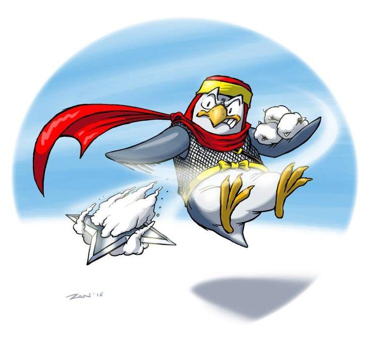 L'#angolodelpinguino di ARRR!!! continua ad avere le sue adesioni, oggi ospitiamo il disegno di Michele Zennaro (cercatelo su FB!)