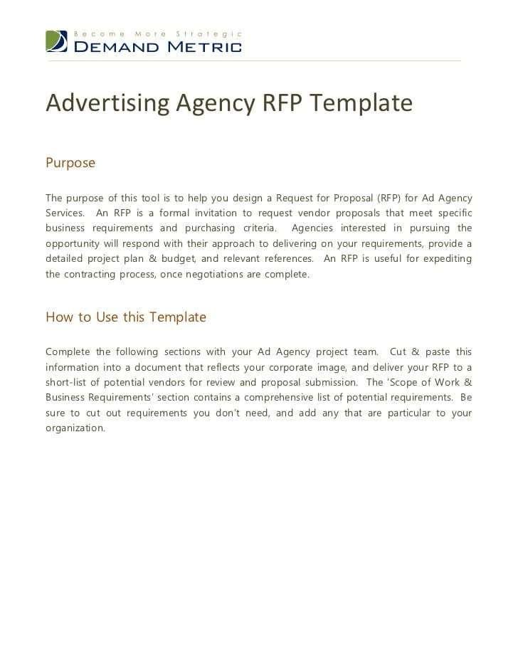 5+ RFP Digital Marketing Templates - Word Excel Templates ...