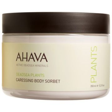 AHAVA DeadSea Plants Caressing Body Sorbet - 12.3 oz This refreshing cream-gel provides skin an extra boost of hydration with Dead Sea minerals, vitamins and plant extracts. It quickly absorbs into skin, leaving skin supple and protected against environmental damage.
