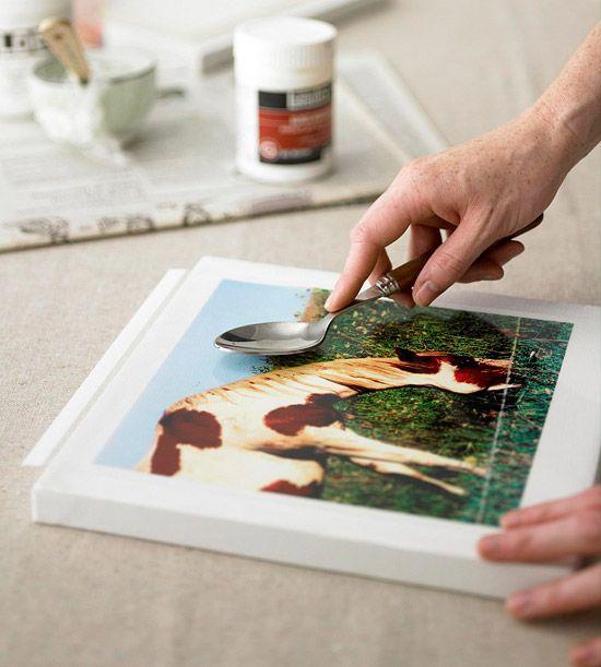 DIY - transfer photo to canvas