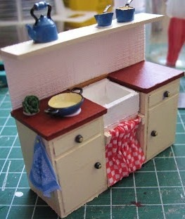 how to: 1/24th scale kitchen sink unit