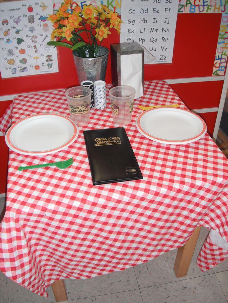 Preschool- Restaurant in Dramatic Play Area