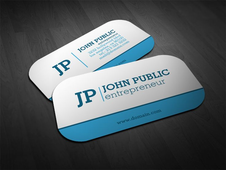 Modern Monogram Blue White Business Card | Zazzle Business Cards | Pinterest | Business Cards, Business card design and Business