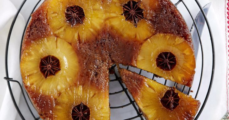 Star Anise and Pineapple Upside-Down Cake Recipe