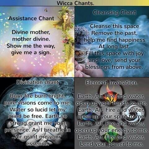Wicca chants....☾☆ ☽* ° ♥ ˚ℒℴѵℯ cjf