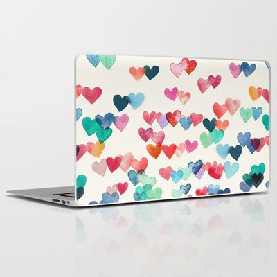 Heart Connections - watercolor painting Laptop & iPad Skin by micklyn - $30.00 #Micklyn