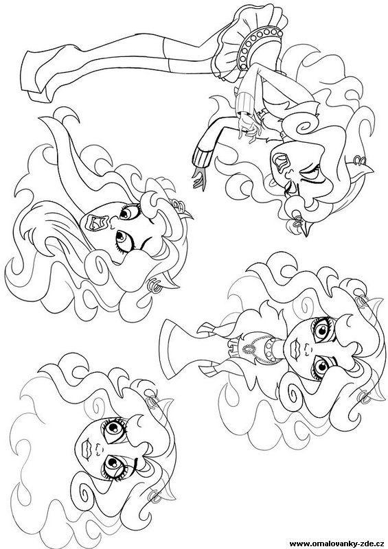 Omalovánky k vytisknutí - Monster High - strana 1