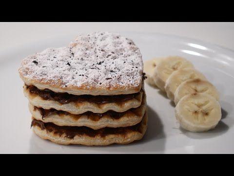 Muzlu Milföy Pasta Tarifi / Waffle Makinesinde Milföy Pasta - YouTube