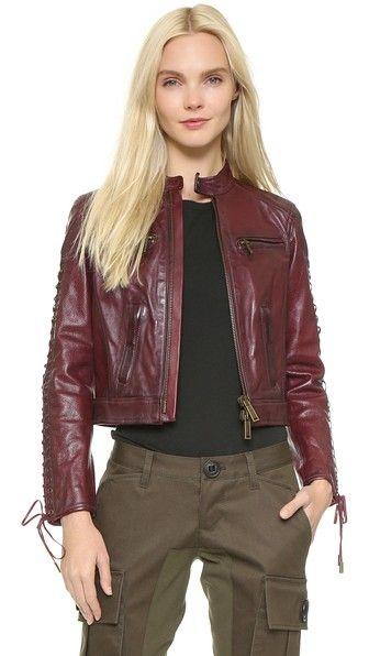 DSQUARED2 Leather Icon Jacket
