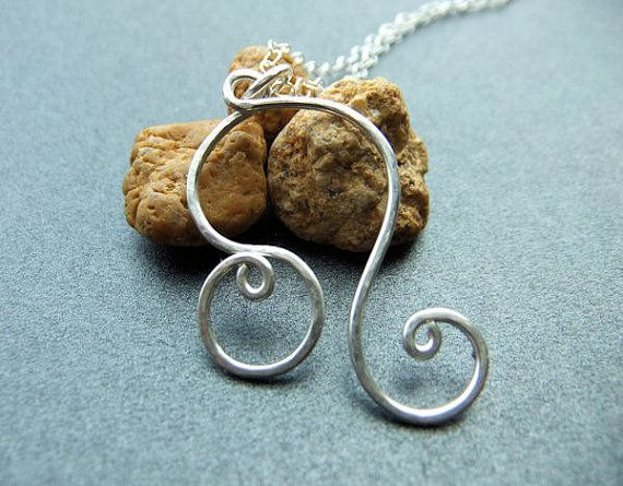 Leo Zodiac Necklace in Sterling Silver by NKCollections on Etsy, $35.00