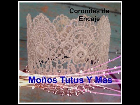 CORONA DE ENCAJE Paso a Paso PRINCESS LACE CROWN Tutorial DIY How To PAP - YouTube