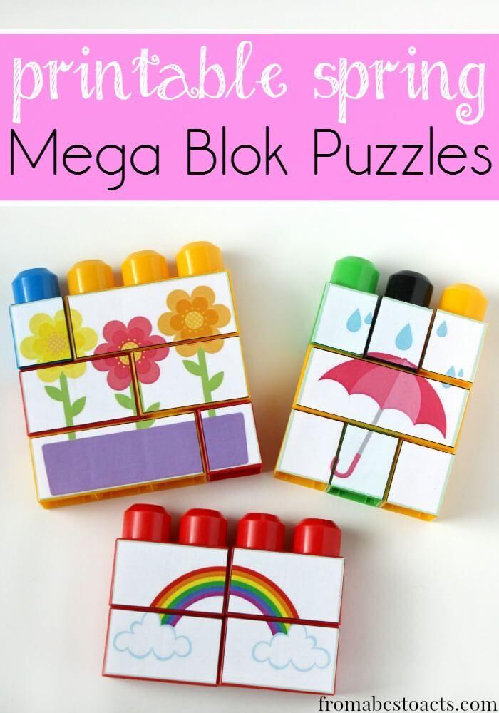 primavera de mega rompecabezas blok para niños en edad preescolar