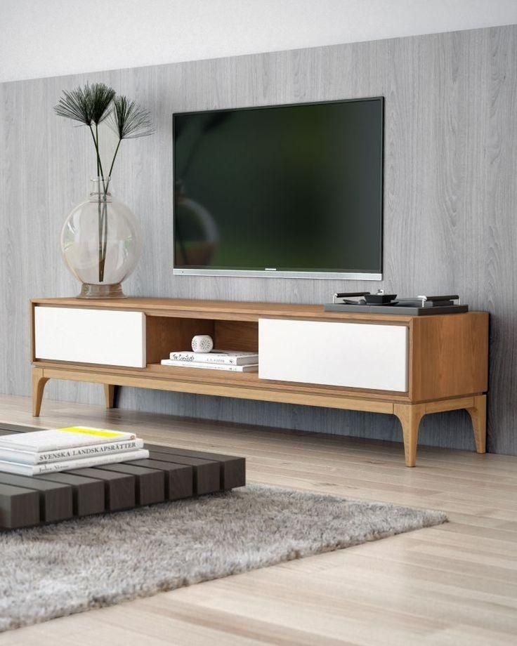 277 Best Media Console Images On Pinterest Media Consoles Media Within Most Current Beech Tv Stand Living Room Tv Wooden Tv Stands Living Room Decor