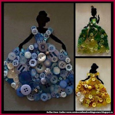 Dollar Store Crafter: Disney Princess Button Art