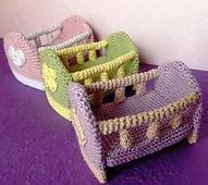 Ravelry: Mini-Crib pattern by K. Godinez...These are perfect for your little creations!.. Free pattern!