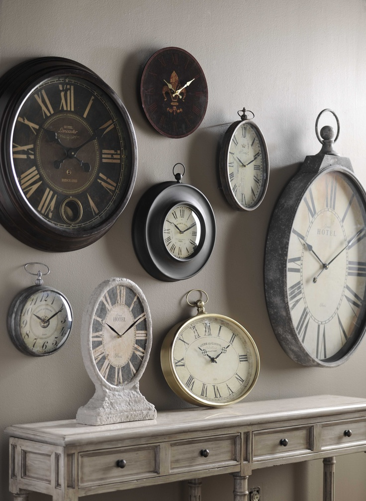 Wall Of Clocks Decor : Best ideas about wall clocks on designer