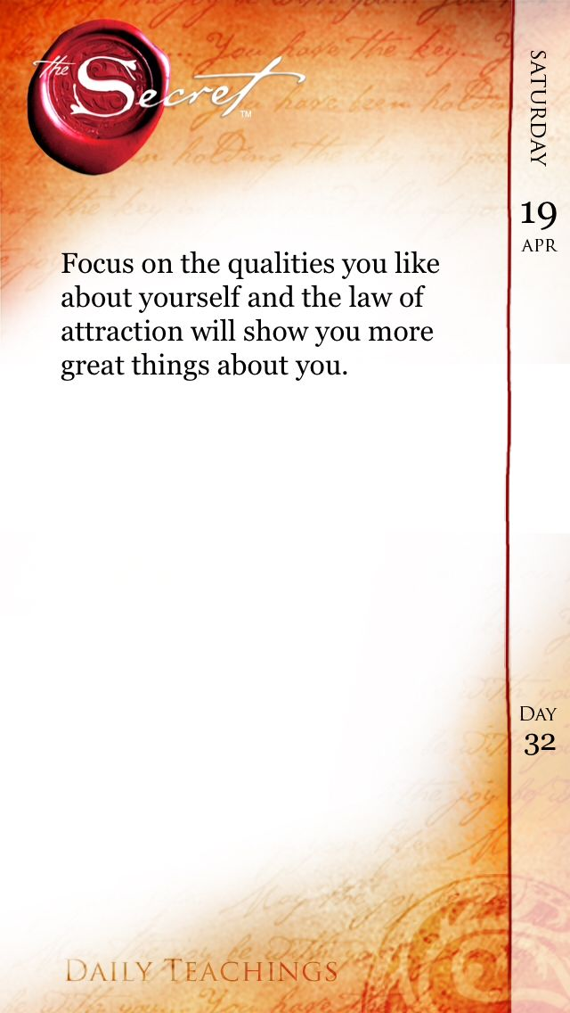 The Secret ~ Law of Attraction…