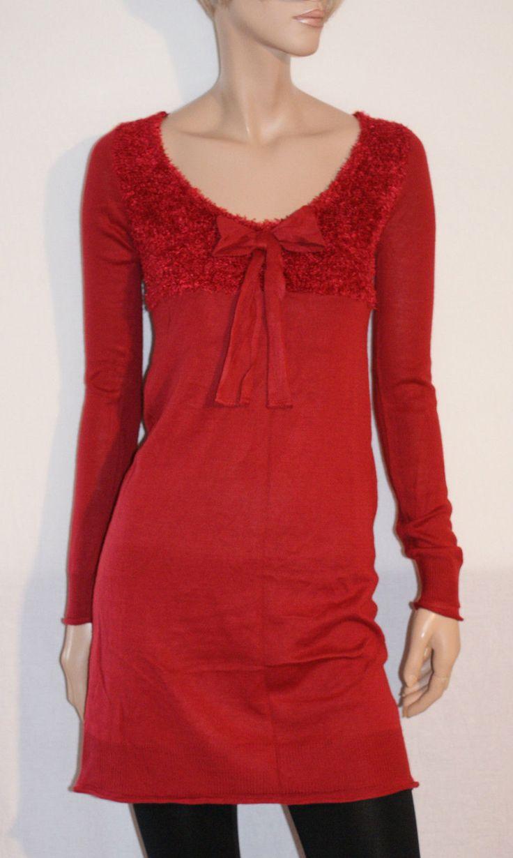 Wonderful Red Coral Mini Dress Jersey Bodyflirt Mini Abito Maxi Maglia Donna…