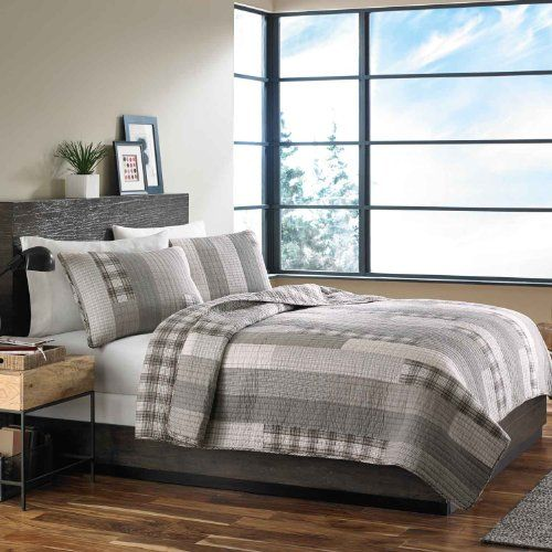 #manythings #Eddie Bauer Cotton Quilt Set includes quilt and two standard shams (one sham with twin size). Quilt is fully reversible. The quilt is 100% cotton wi...