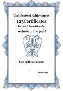 formal certificate template