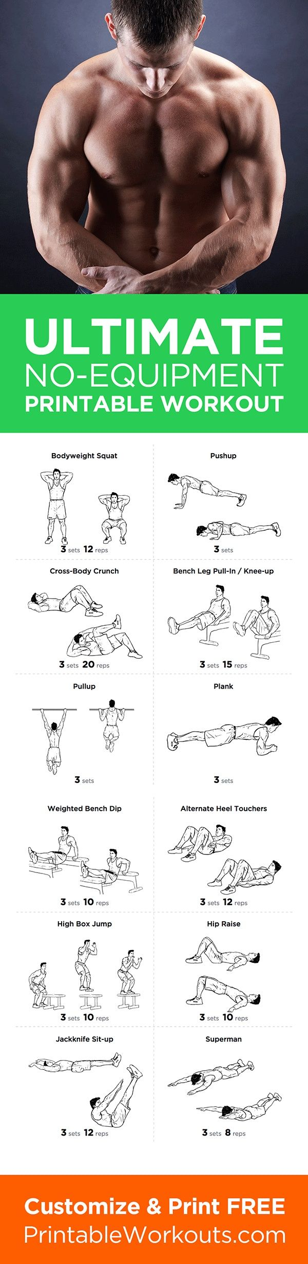 See more here ► https://www.youtube.com/watch?v=0KRTOVZ92_4 Tags: herbs for weight loss, how much weight will i lose calculator, free weight loss program - Try this full body no equipment at-home printable workout routine! Customize & print it at http://p