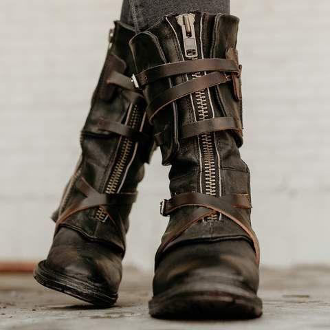 01af3d3ba8b womens freebird by steven Madi black mid calf inside zip boot with ...
