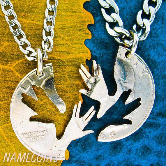 Star Trek Inspired Jewelry, Vulcan Farewell Set, Geekery on a 1966 Interlocking cut coin