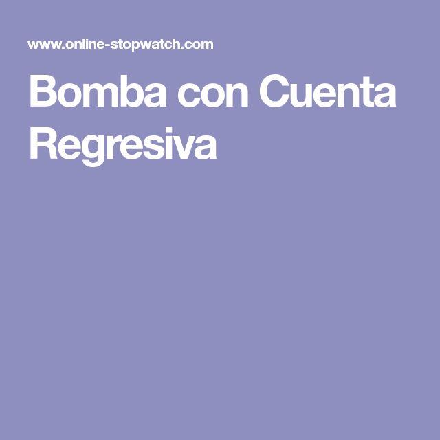 Bomba con Cuenta Regresiva