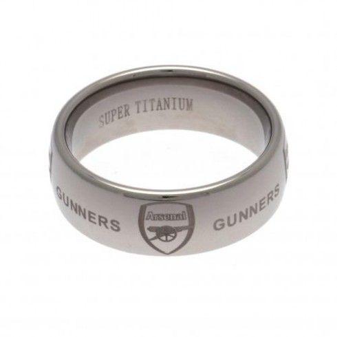 Arsenal F.C. Super Titanium Ring Small