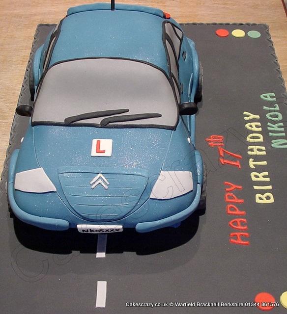 Car Cake. Citroen car shaped novelty cake