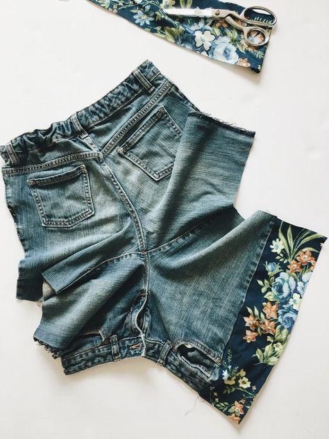 Como fazer shorts de corte Jean inspirados na Boho   – Nähprojekte