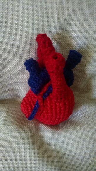Coração Anatômico em Crochê | Amigurumi