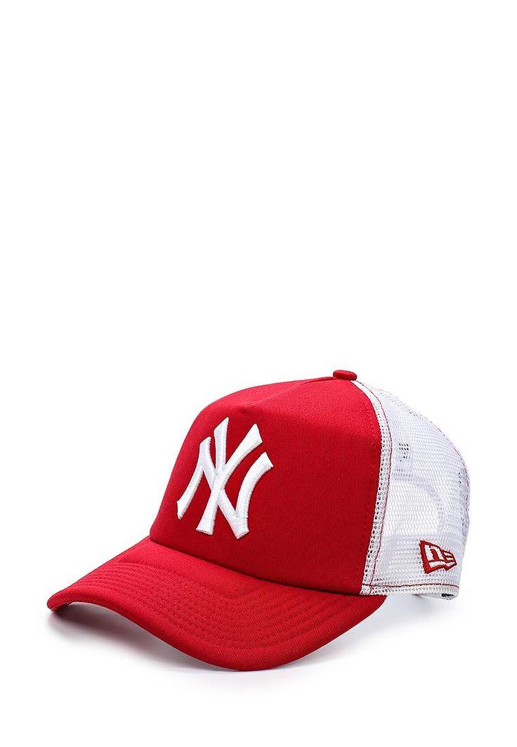 Бейсболка от New Era ярко-красного цвета. Модель выполнена из износоустойчивого мягкого хлопка и дек