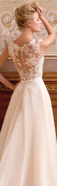 Best Hairstyle For V Neck Wedding Dress : Best 25 lace back wedding dress ideas on pinterest barn