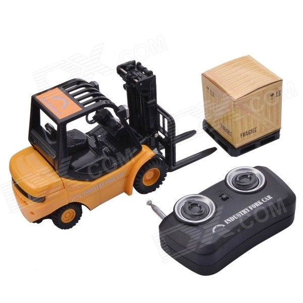 Mini Desktop 6-CH Radio Remote Control Engineering Forklift Toy - Yellow From 29,- for Euro 22,95