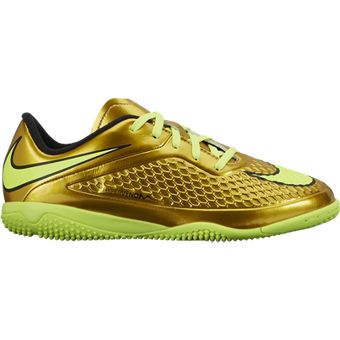 Nike JR Hypervenom Phelon IC Gold Youth Indoor Soccer Shoes