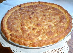 French Rhubarb Pie Recipe The best Rhubarb Pie recipe! The same as my grandma's vintage recipe that she used for many years, with the change of baking at 400* for 10 minutes and then 350* for 30 minutes.